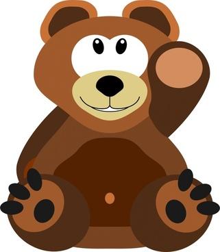 cute teddy bear drawing in cartoon style