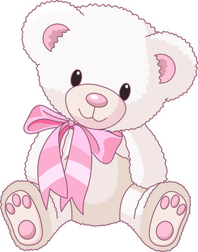 Cute teddy bear vector illustration