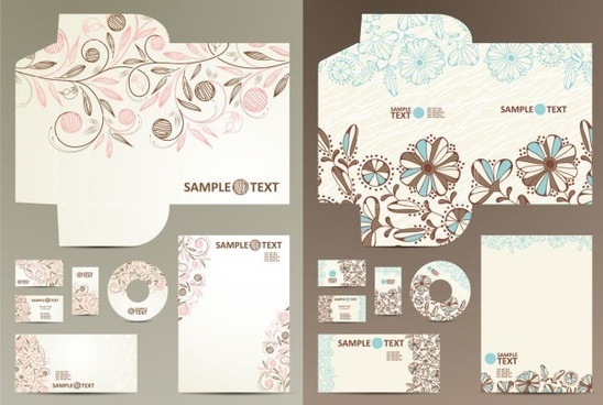 cute theme vi template vector pattern