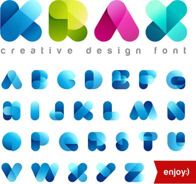 cute transparent font vector