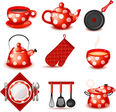cute utensils vector collections