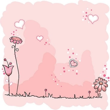 cute vector illustration flowers line draft