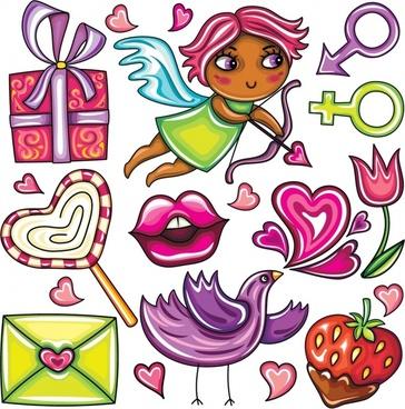 cute vector illustration stickers