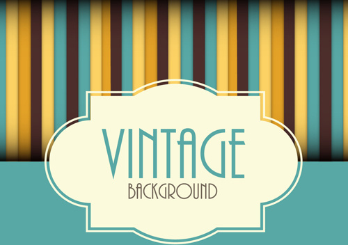 cute vintage background vectors design