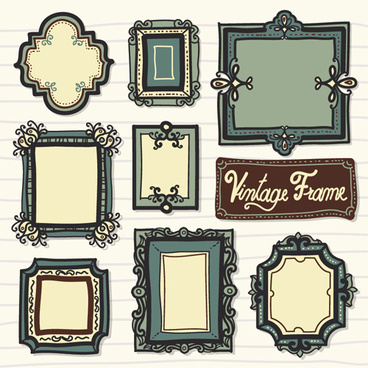 cute vintage frame vector graphics