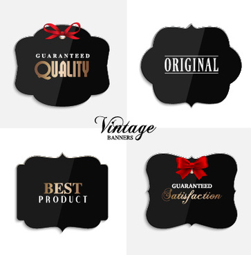 cute vintage labels cards vector graphics