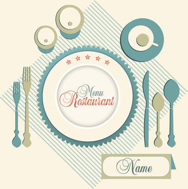 cutlery and restaurant menus vector