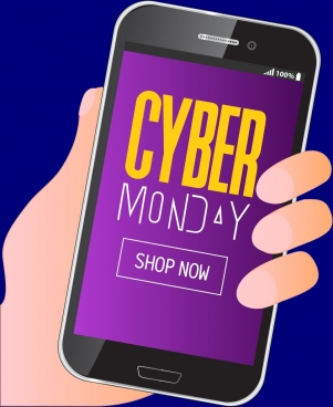 cyber monday sale background phone screen icon