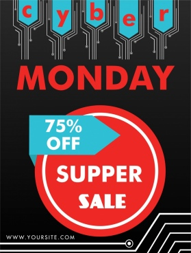cyber monday sales background technology chip style