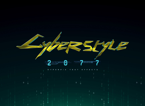 cyberpunk 2077 psd text effect