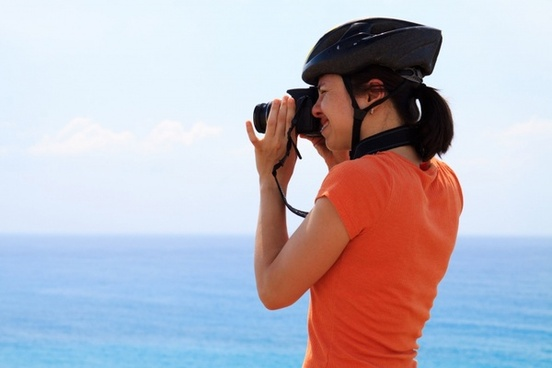 cyclist and photographer