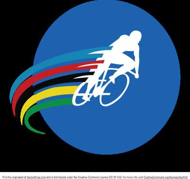 cyclist vector logo