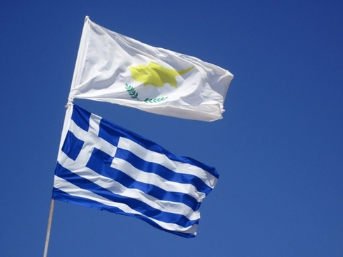 cyprus and greek flag
