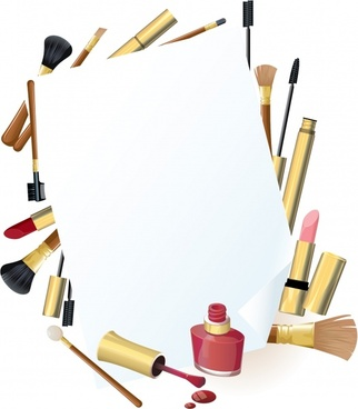 cosmetics advertising background shiny colored modern objects decor