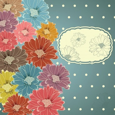 daisy petals background vector