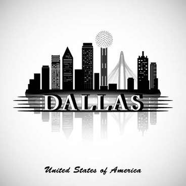dallas city background vector