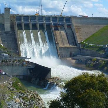 dam overflow water