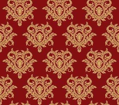damask floral background vector