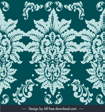 damask pattern elegant classic symmetric flower decor