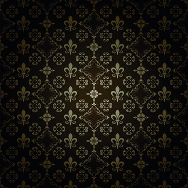 damask seamless pattern art background