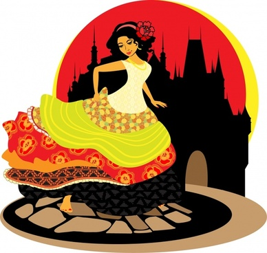 fairy tale character icon dynamic cartoon sketch