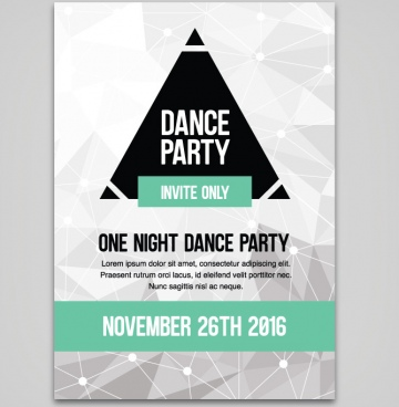 dance party abstract polygon poster design