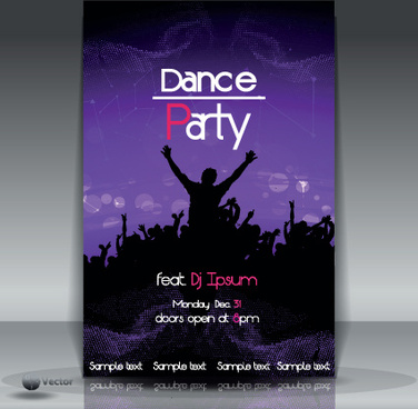 Dance Party Flyer Template Free Vector Download 16007 Free Vector