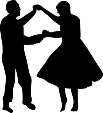 Dancing Couple Fifties clip art