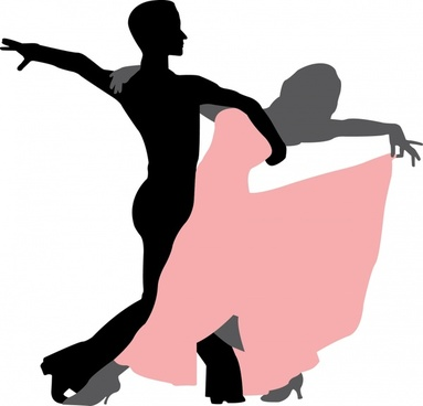 dancing background couple icon silhouette design