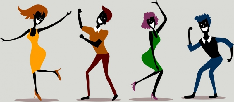 dancing person icons funny black design