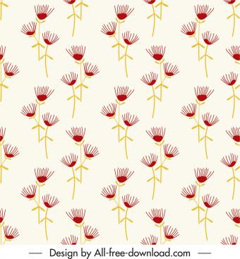 dandelion floras pattern repeating handdrawn sketch repeating design