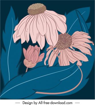 dandelion painting dark classic handdrawn sketch