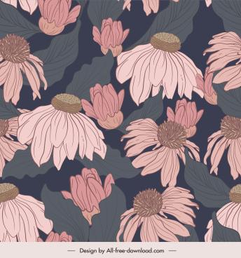 dandelion pattern template retro handdrawn design