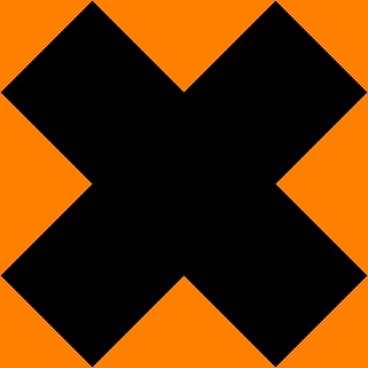 Danger Sign Cross 1 Pattern clip art