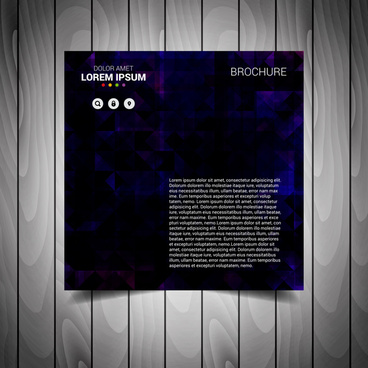 dark blue business flyer template