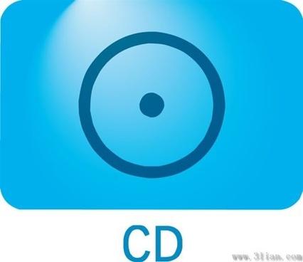 dark blue cd icon vector
