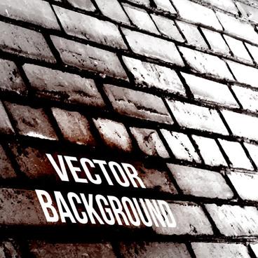 dark brick wall background vector