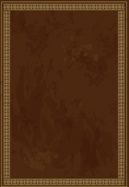 dark brown border classical seamless repeating hearts style