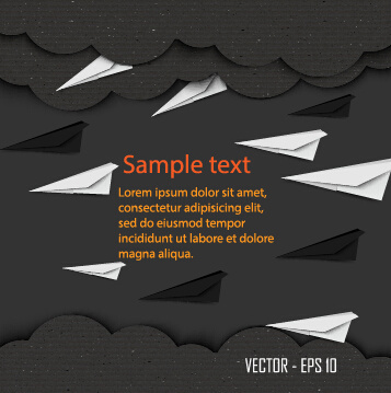 dark cardboard business template vector