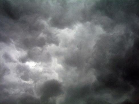 dark clouds sky