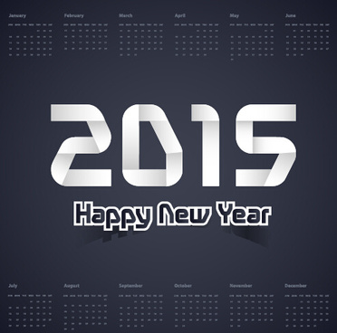 dark color calendar15 new year vector