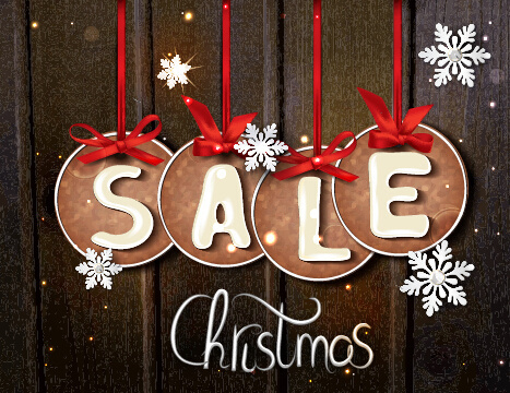 dark color christmas sale background vector