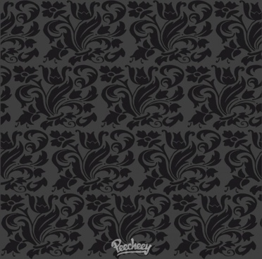dark damask wallpaper with seamless floral design