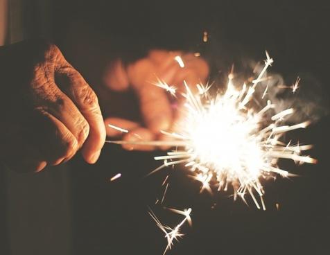 dark fire firework flash hand light night smoke