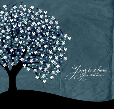 dark flower tree background