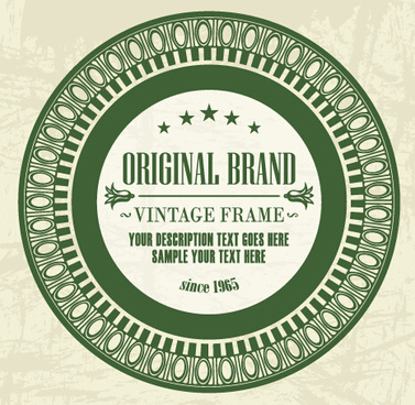 dark green floral frame vectors