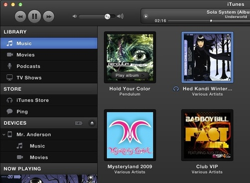 Dark Grey iTunes UI