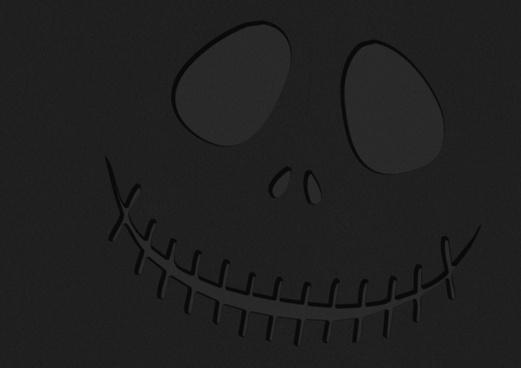 dark halloween face