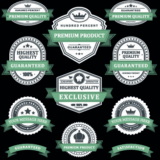 dark labels vector