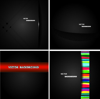 dark metal backgrounds vector set